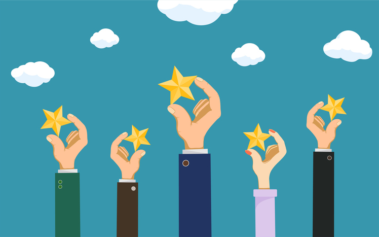 5 Stars Representing 5 Reasons to Chose Oracle Cloud
